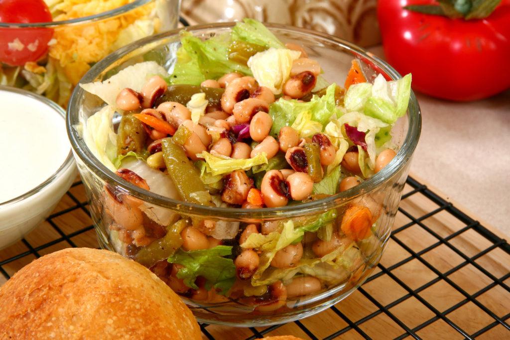salát s fazolemi podle metabolic balance