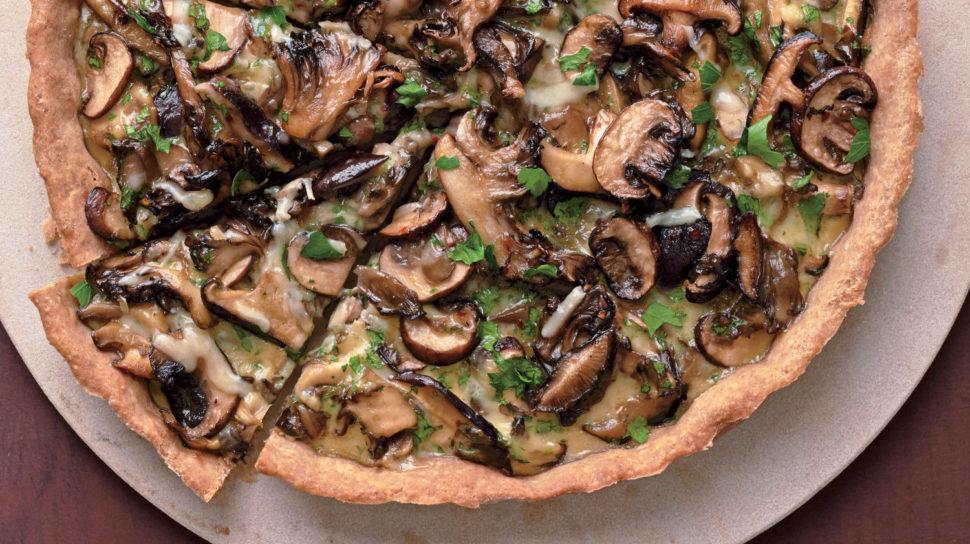 Pizza ze žitné mouky s houbami podle Metabolic Balance