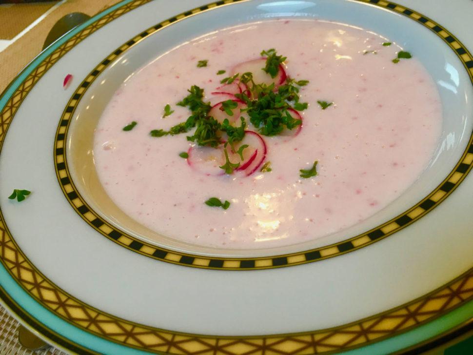 Studená ředkvičková polévka - kurzy vaření Metabolic Balance