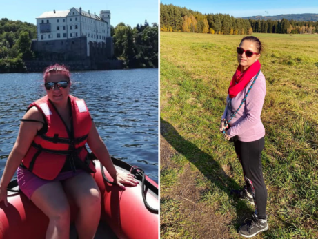 žena zhubla v programu Metabolic Balance, před a po